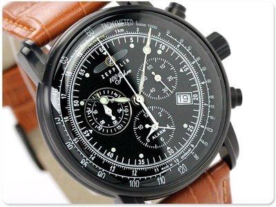 ZEPPELIN 齊柏林飛船 手錶 LZ127 42mm 德國 飛行錶 航空錶 7678-1