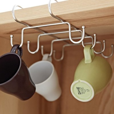 完美主義|不鏽鋼吊掛層板馬克杯架 杯架 掛鉤 馬克杯架 置物架 收納架 瀝水架 MIT台灣製【D0025】