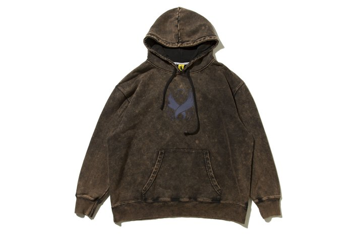 [ LAB Taipei ] REMIX '19 A/W STAMP BLEACHED HOODY [ 咖啡 ]