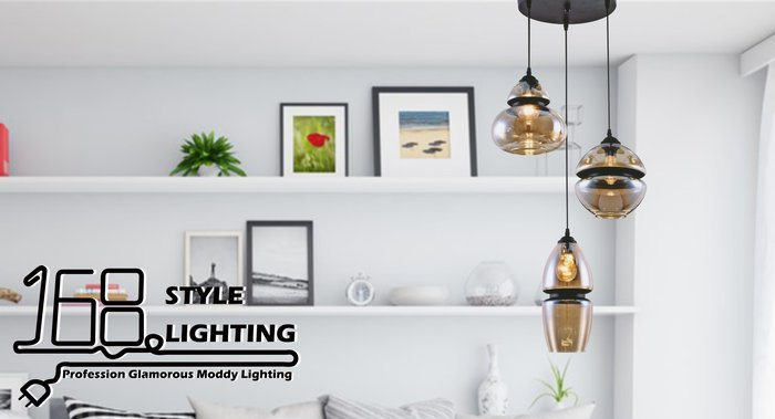 【168 Lighting】特殊玻璃《工業吊燈》GI 71266-3