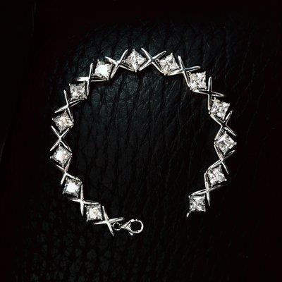 降價滿鑽手鍊飾品配件珠寶40分鑽石交叉...