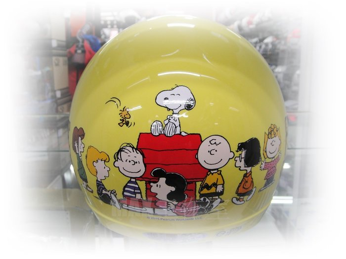 Max工作室~兒童 安全帽【史努比 #4:黃】附:PC鏡片 超商取貨付款OK^^