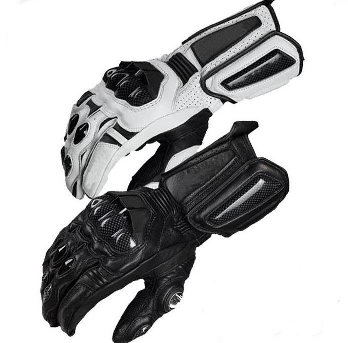 5C精選@AFS10 長指透氣防滑 摩托車賽車真皮碳纖手套