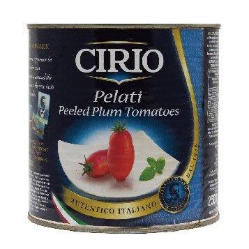 ~* 萊康精品 *~ 義大利 CIRIO 去皮蕃茄  Peeled Tomatoes 2.5公斤 料理