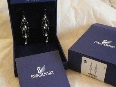 施華洛世奇Swarovski 水晶吊燈耳環 限量款