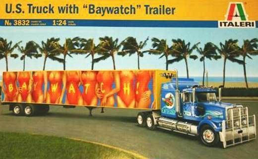 ITALERI 1/24 U.S. Truck with Baywatch Trailer 海灘美景貨櫃拖車 (3832)