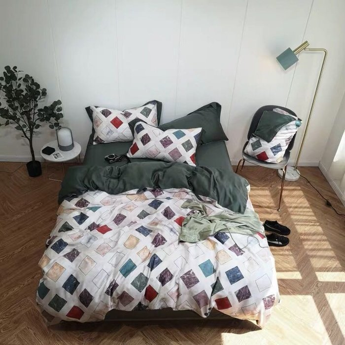 【Little Bed 小床】天絲/柔滑/簡約時尚【39AA001】單人標準床包(3.5*6.2)四件組
