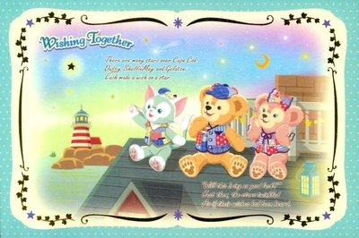 DISNEY東京迪士尼海洋15周年達菲熊 明信片( 製)