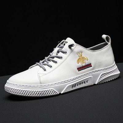 極簡鞋館~2020春季新款小白鞋男正韓潮流百搭鞋子潮運動休閒鞋男士白色板鞋