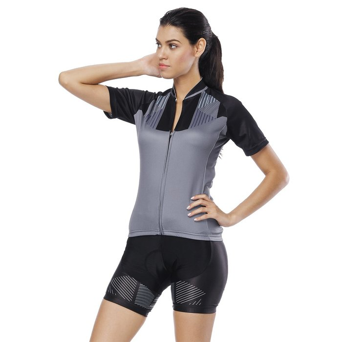 【Paladin】女款短袖車衣褲套裝 :: 灰色