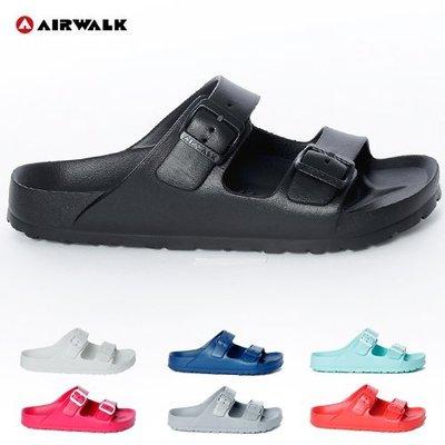 女款 AIRWALK 正版授權 超輕量防水EVA雙扣 休閒拖鞋 防水拖鞋 Ovan