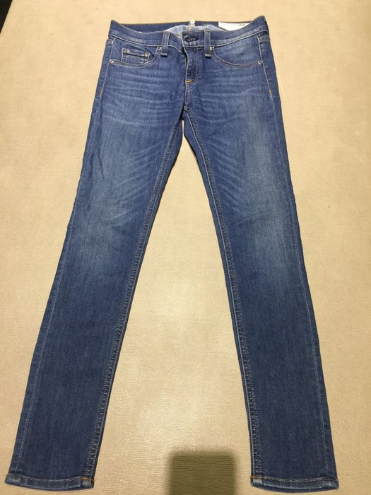Rag&bone 藍色skinny 鉛筆 直筒 彈性貼身牛仔褲👖