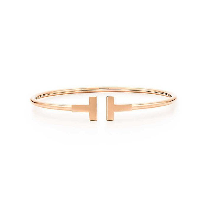 Melia 米莉亞代購 Tiffany&Co. 925純銀 Tiffany 蒂芙尼 手鍊 手環飾品 T手環 玫瑰金