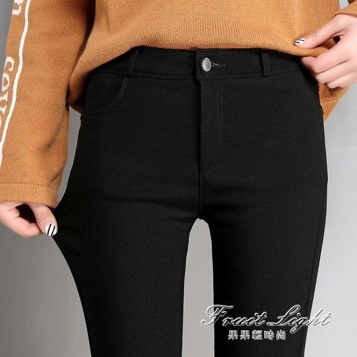 黑色打底褲女外穿冬魔術褲薄款高腰修身百搭鉛筆小腳褲子GGQS16212