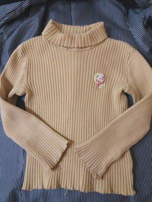 運費合併 日本製 kp 棉質 高領 110公分 長袖上衣 針織 無污 秋冬 kp kid's stuff