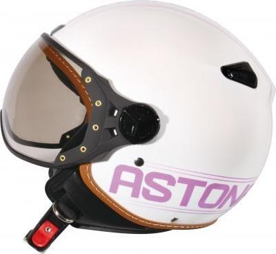 【安全帽先生】法國 ASTONE KSR 白/DD52紫 半罩 安全帽 復古帽