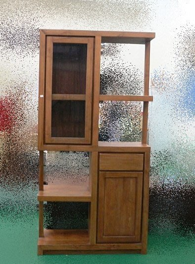 樂居二手家具 全新中古傢俱賣場 TK-A0BA *實木柚木屏風櫃 兩門1抽展示櫃* 收納櫃 餐櫃 高低櫃 酒櫃 電視櫃
