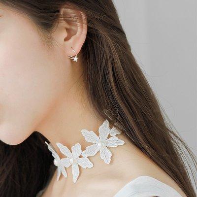 耳環 小巧 耳飾 簡約 大方 迷你星星彈簧旋轉圈圈耳釘韓國簡約學生耳環女氣質百搭小清新