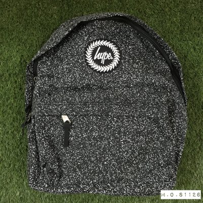 M.O.S1126 英國 Hype [ Speckle print ] 黑色/白色 印刷式 噴漆感 滿版 背包 後背包