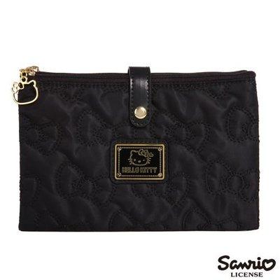GIFT41 4165本通 三重店  HELLO KITTY 凱蒂貓 KT - 浪漫 護照包 包包 黑色 KT00Y11BK