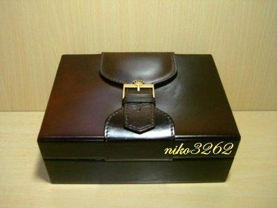 :: NiKo HoUsE ::【ROLEX 勞力士】原廠錶盒 / 暗紅色(2)