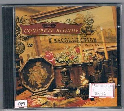 [鑫隆音樂]西洋CD-CONCRETE BLONDE - Recollection精選輯/全新/免競標