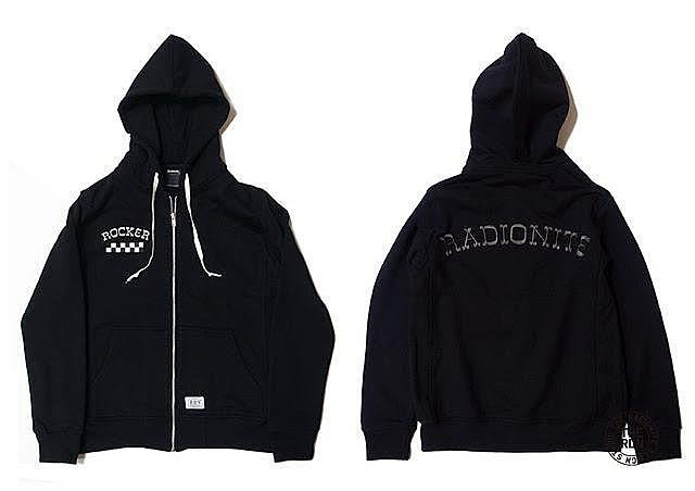【RADIONITE】ROCKER ZIP HOODIE 連帽棉外套 厚磅 超挺 黑色專屬賣場