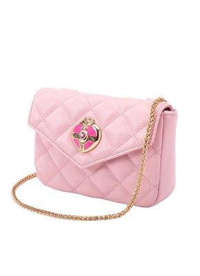 預訂台灣Grace Gift-美少女戰士菱格2way皮革腰包(粉紅)