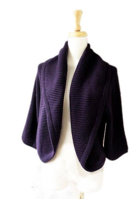 *Beauty*JOAN &DAVID紫色針織衫外套
