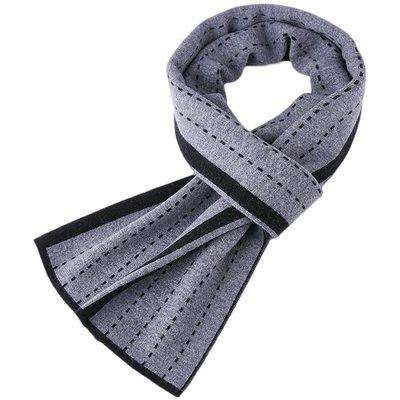 圍巾 羊毛 披肩-簡約線條針織保暖男配件3色73wh32[獨家進口][米蘭精品]