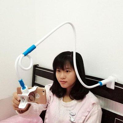 手機支架床頭看電視個性創意懶人夾oppo固定器vivo寢室電話加超長