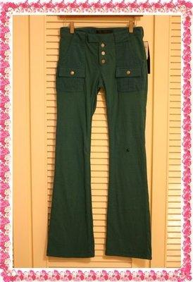 全新日本潮牌教主真品UNDERCOVER 湖水綠100%棉質前口袋閃電靴型褲(原價$12000)