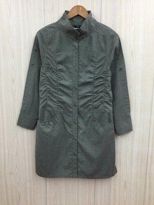【愛莎&嵐】JO-AN 女 灰色高領長袖洋裝 / L 1080117
