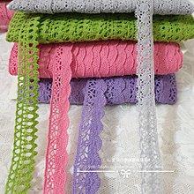 『ღIAsa 愛莎ღ手作雜貨』1尺4元 服裝花邊/娃衣花邊純棉彩色棉線花邊精品彩色花邊寬3.1cm