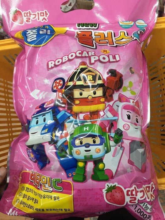 韓國進口波力POLI 救援小英雄安寶羅伊草莓口味維他命C現貨散裝100顆萬聖節同樂會聖誕節慶生會家人聚會兒童獎勵糖果