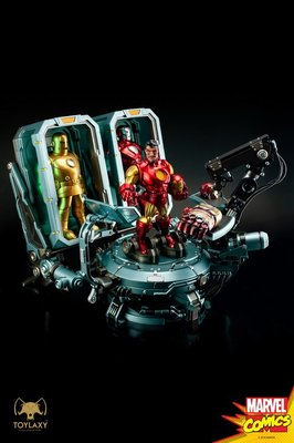 【精選】Toylaxy 漫畫 Iron Man HOA 鋼鐵俠 Tony Stark 格納庫 雕像 接單【哆啦小鋪】