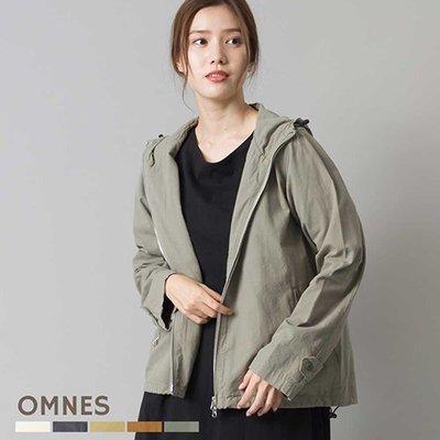 |The Dood Life|日本 OMNES / 生物水洗處理 復古洗舊色 高密度棉質 連帽外套 戶外風衣