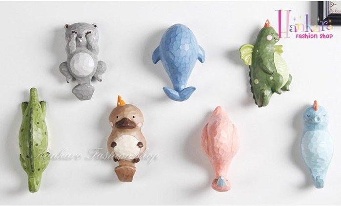 ☆[Hankaro]☆ 花園派對可愛動物創意牆上掛鈎牆壁掛飾~(合併批發另洽)