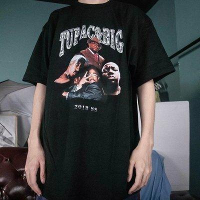 美國 饒舌傳奇 2pac Biggie 紀念 短T 嘻哈 饒舌 HIP HOP RAP 尺寸:S~XL