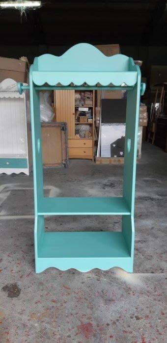 【現貨限量品】美生活館 全新紐松原木心型波浪衣帽鞋櫃玄關櫃寵物衣物櫃收納櫃置物櫃店面展示櫃--藍綠色