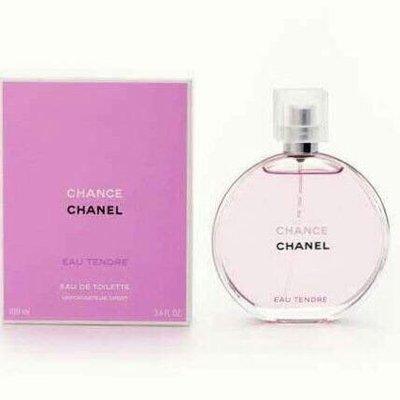 CHANEL 香奈兒 CHANCE 粉紅甜蜜 淡香水 EDT 100ml附Chanel禮袋