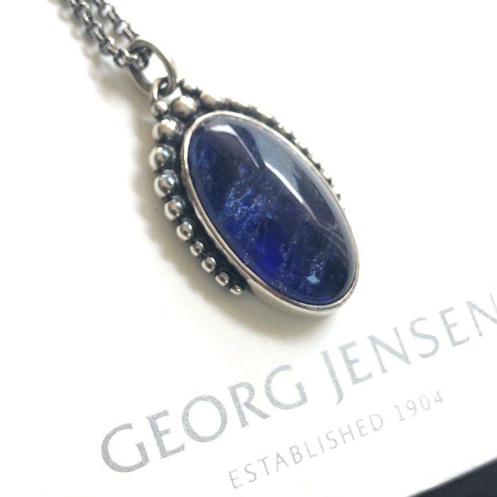 【小麥的店】售完*GEORG JENSEN 喬治傑生 9B 方鈉石氧化純銀項鍊