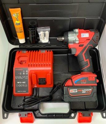 鋰電無刷電動扳手 通用米沃奇 21V(18V)單電池 4.0AH 簡配 / 大功率無刷開關 / 無刷電動工具  保固半年