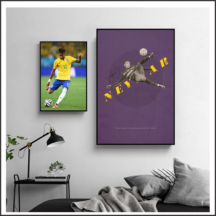 日本製畫布 電影海報 世足 巴西 內馬爾 Neymar 掛畫 無框畫 @Movie PoP 賣場多款海報~