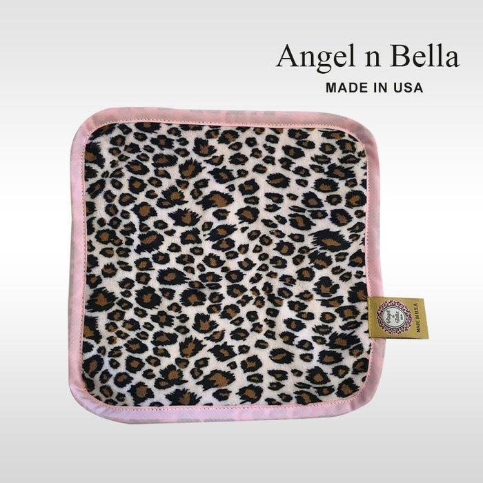 ☆°Angel n Bella.╯☆°【美國製】頂級時尚動物紋手帕-粉紅豹紋 (糖果豆款)