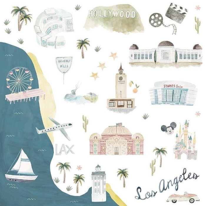 ♡NaNa Baby♡加拿大Loulou lollipop 竹纖維透氣包巾禮盒款 - 美國洛杉磯