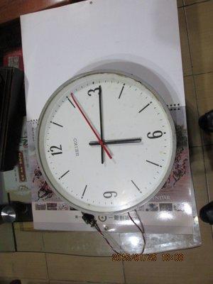 早期 SEIKO 遊覽車古董電鐘(全玻璃面鐵殼)