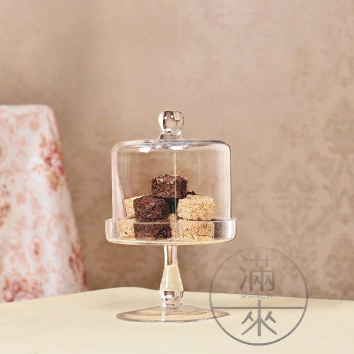 直徑15cm 歐式透明玻璃蛋糕盤【奇滿來】高腳託盤蛋糕架 蛋糕罩 水果盤 婚禮道具 蛋糕盤 甜品台 擺件 ADUQ
