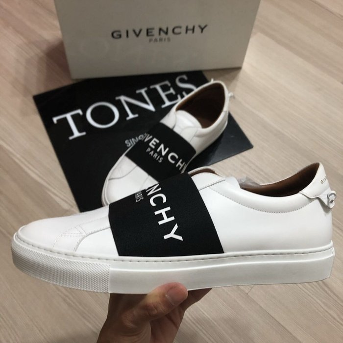 【TONES.】Givenchy 18SS 皮革拼色 Logo 小白鞋