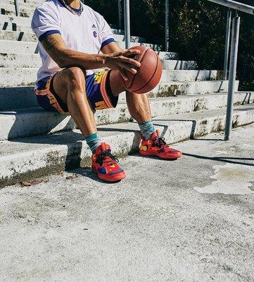限時特價 南◇2021 7月 ADIDAS ERIC EMANUEL 明星賽 麥當勞 藍色 薯條 籃球短褲H16550